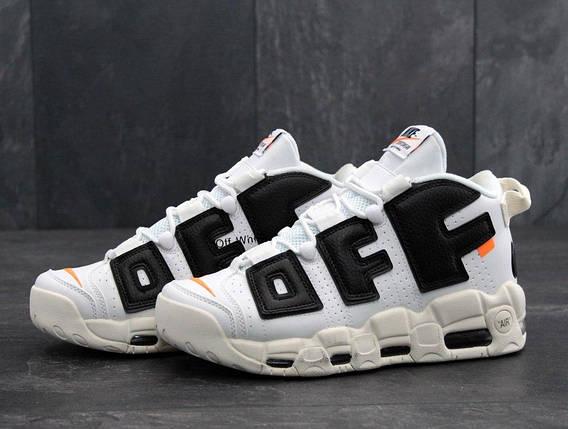 Мужские кроссовки OFF-White X Nike Air More Uptempo, фото 2