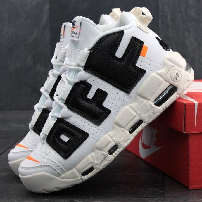 Мужские кроссовки OFF-White X Nike Air More Uptempo