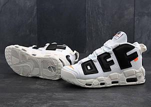 Мужские кроссовки OFF-White X Nike Air More Uptempo, фото 3