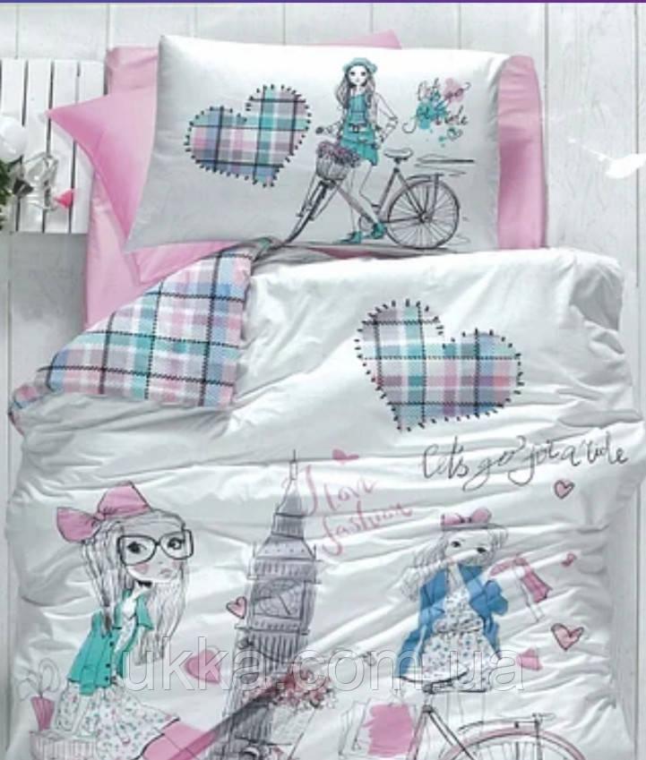 Детское постельное белье полуторное Вело прогулка подростковый
