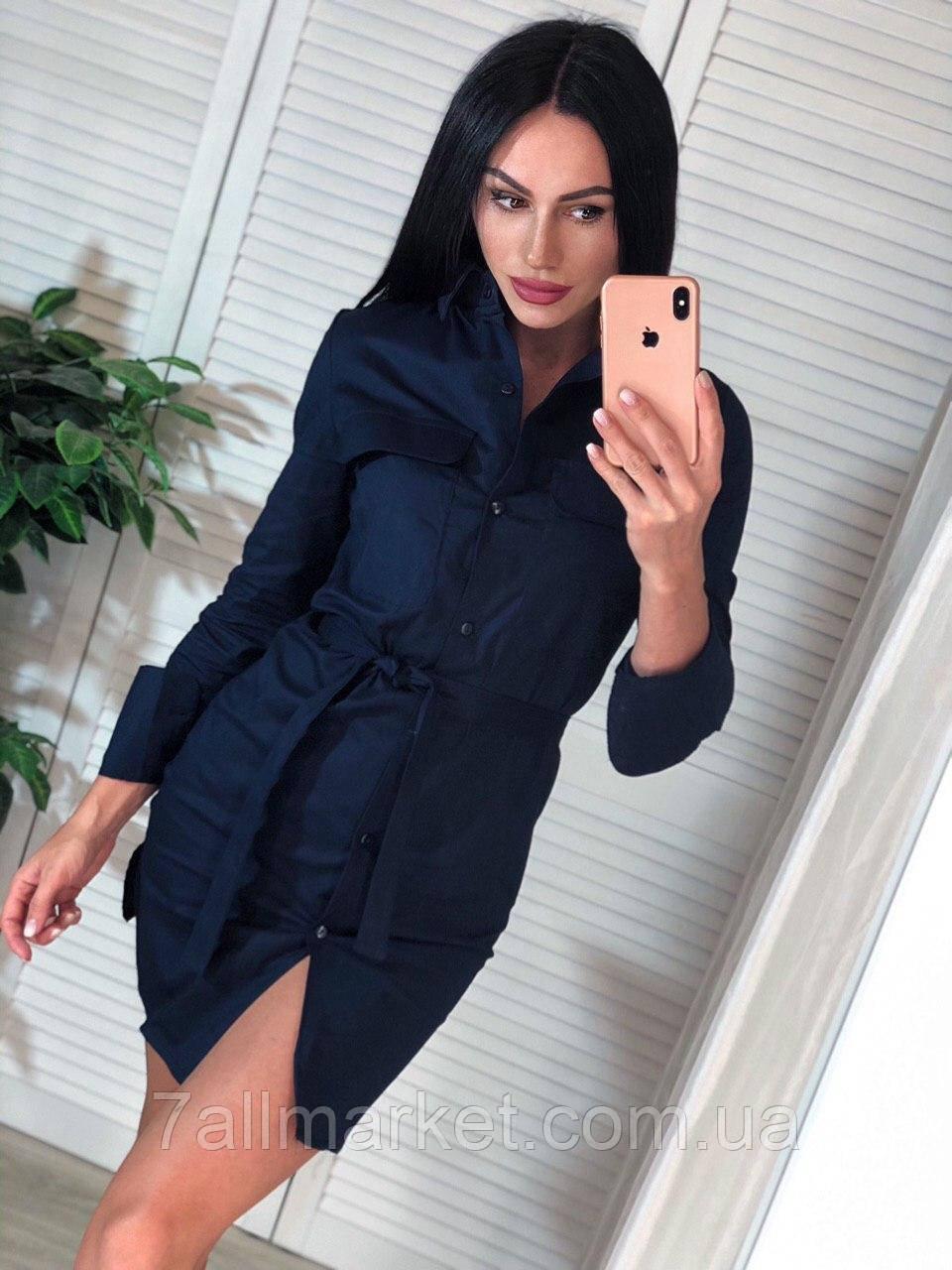 """Сукня-сорочка жіноча на гудзиках розмір S-M (4кол) """"MARGARET"""" купити недорого від прямого постачальника"""