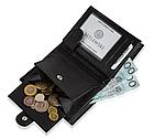 Шкіряний гаманець натуральна шкіра BETLEWSKI з RFID 9,5 х 12,5 х 2 (ТРМ-KZ-67)- чорний, фото 2