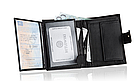 Шкіряний гаманець натуральна шкіра BETLEWSKI з RFID 9,5 х 12,5 х 2 (ТРМ-KZ-67)- чорний, фото 4