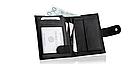 Шкіряний гаманець натуральна шкіра BETLEWSKI з RFID 9,5 х 12,5 х 2 (ТРМ-KZ-67)- чорний, фото 5