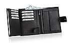 Шкіряний гаманець натуральна шкіра BETLEWSKI з RFID 9,5 х 12,5 х 2 (ТРМ-KZ-67)- чорний, фото 7