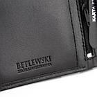 Шкіряний вертикальний гаманець BETLEWSKI  RFID, фото 4
