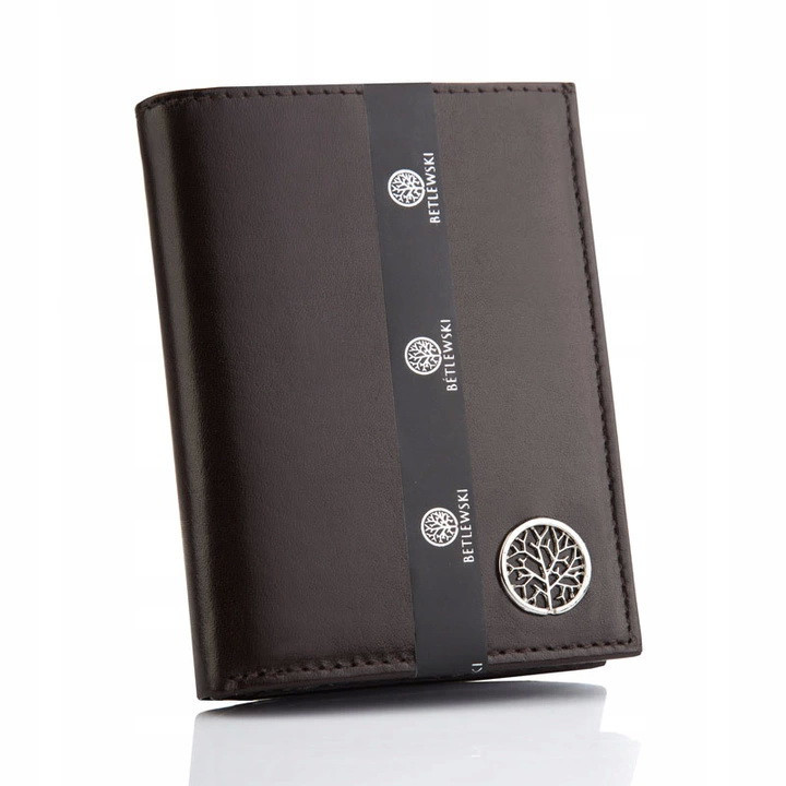 Шкіряний чоловічий гаманець Betlewski RFID