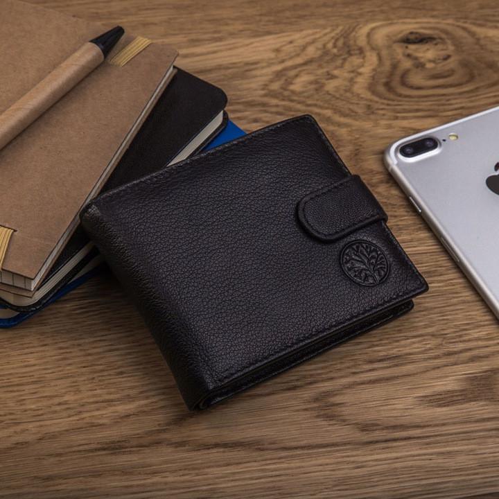 Чоловічий шкіряний гаманець Betlewski з RFID 9,2 х 11 х 2 (BPM-GTN-63) - чорний