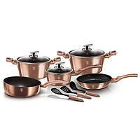 Набор посуды Berlinger Haus Metallic Line ROSE GOLD Edition BH 6160 (11 предметов)