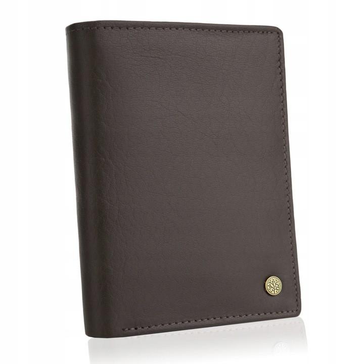 Шкіряний гаманець BETLEWSKI RFID 12,9 х 10 х 2,5 (BPM-BH-575) - коричневий