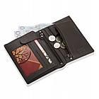 Шкіряний гаманець BETLEWSKI RFID 12,9 х 10 х 2,5 (BPM-BH-575) - коричневий, фото 8