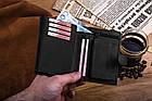Шкіряний гаманець BETLEWSKI RFID 12.8 х 10 х 2.5 (BPM-HT-64) - чорний, фото 6