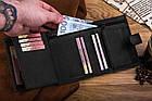 Шкіряний гаманець BETLEWSKI RFID 12.8 х 10 х 2.5 (BPM-HT-64) - чорний, фото 8