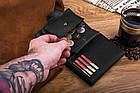Шкіряний гаманець BETLEWSKI RFID 12.8 х 10 х 2.5 (BPM-HT-64) - чорний, фото 9