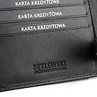 Чоловічий шкіряний гаманець Betlewski RFID, фото 9