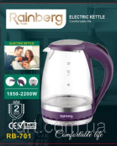 Электрический стеклянный чайник Rainberg RB-701