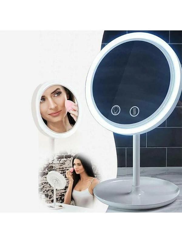 Круглое зеркало с подсветкой beauty breeze mirror