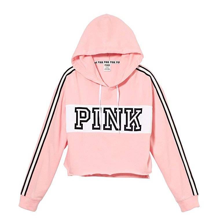 Спортивна кофта Victoria's Secret Pink Cropped Pullover S, Рожевий