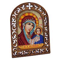 Набор для вышивки бисером на деревяной основе Казанская