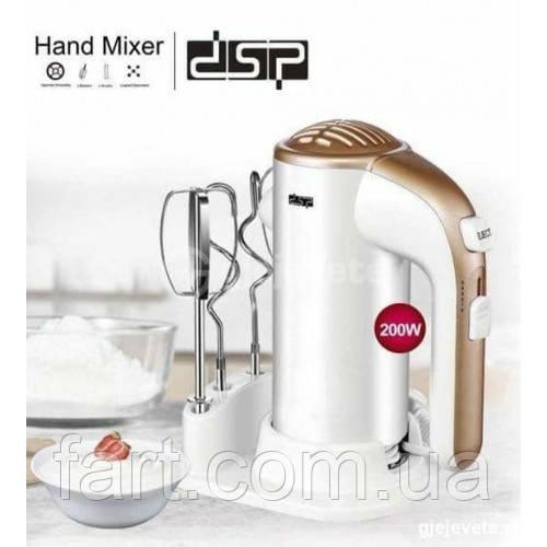 Миксер ручной DSP KM2021 с подставкой