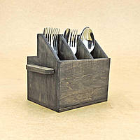 """Подставка для столовых приборов """"Вителло"""" морион, фото 1"""