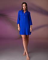 Пляжная туника рубашка, цвет - электрик (синий)