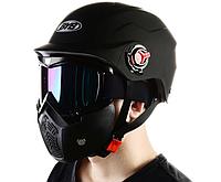 Горнолыжная маска 2 в 1, нижняя часть съёмная, фото 1