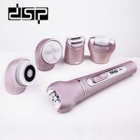 Многофункциональный электрический эпилятор, пилка, массажер, очиститель 5в1 DSP 80003, фото 1