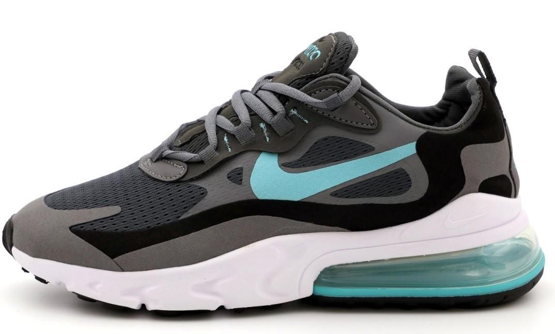 "Мужские кроссовки Nike Air Max 270 React ""Gray/Black/Blue"" (Premium-lux) разноцветные"