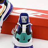 Мужские кроссовки Nike Air Max 270 React  (Premium-lux) разноцветные, фото 6