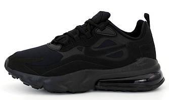 Мужские кроссовки Nike Air Max 270 React  (Premium-lux) черные