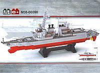 Конструктор Sluban серия Военно-морской флот M38-B0390 (Эсминец)