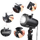 Лазерный проектор Star Shower projection outdoor light halloweeen 12 картриджей, фото 3