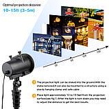 Лазерный проектор Star Shower projection outdoor light halloweeen 12 картриджей, фото 6