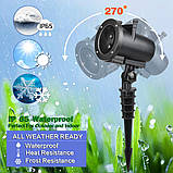 Лазерный проектор Star Shower projection outdoor light halloweeen 12 картриджей, фото 8