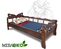 """Кровать детская \ подростковая для девочки из натурального дерева """"Бабочка""""."""