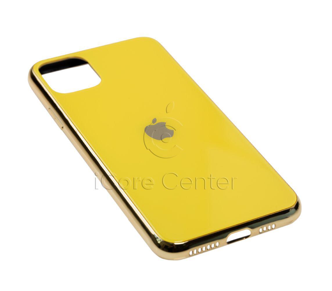 Чохол для iPhone 11 Pro Max Glass Case Logo Жовтий