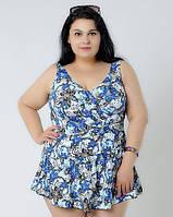 Яркий стильный платье-купальник большого размера