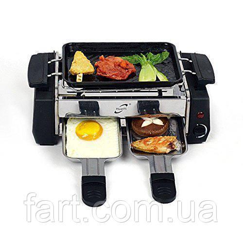 Электрический компактный гриль-барбекю 2 в 1 HuanYi HY 9098