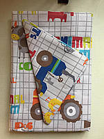Комплект детского постельного белья Трактора в кроватку, бязь Голд Люкс, 110х140см
