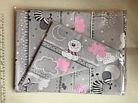 Комплект детского постельного белья в кроватку, бязь Голд Люкс, 110х140 см