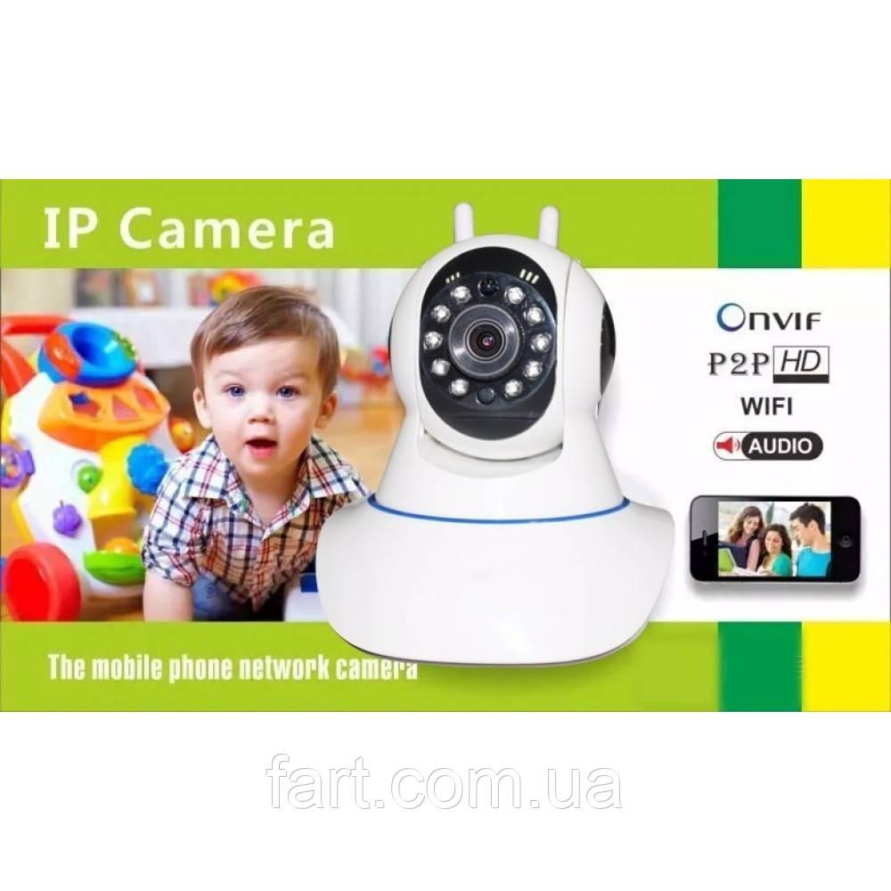 Камера видеонаблюдения IP Camera Onvif P2P HD WIFI c поворотным механизмом