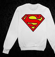 Свитшот мужской/женский белый Superman Супермен