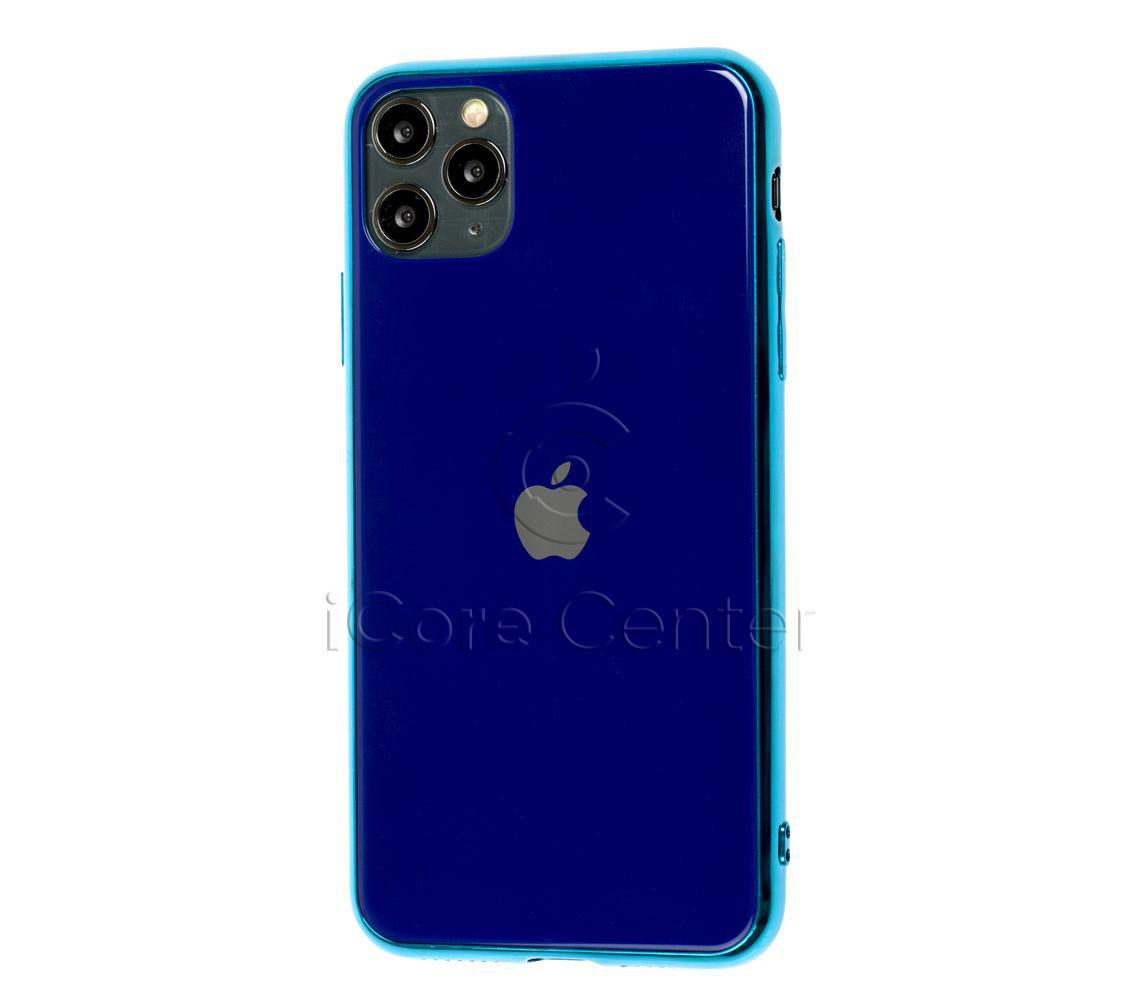 Чехол для iPhone 11 Pro Glass Case Logo Синий