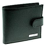 Маленький мужской кошелек Karya 0437-45 кожаный черный, фото 3