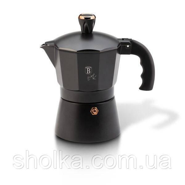 Гейзерная кофеварка Berlinger Haus BLACK ROSE Collection BH 1973 (3 чашки)