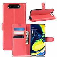 Чехол-книжка Litchie Wallet для Samsung Galaxy A80 / A90 Red