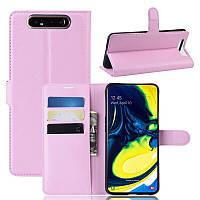 Чехол-книжка Litchie Wallet для Samsung Galaxy A80 / A90 Pink