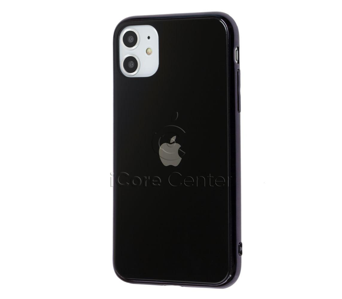 Чехол для iPhone 11 Glass Case Logo Черный