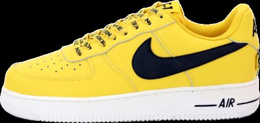 Чоловічі кросівки Nike Air Force (Premium-lux) жовті